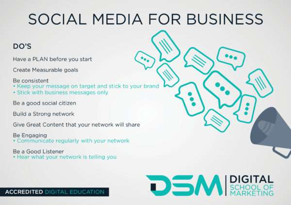 DSM Social media to grow my business
