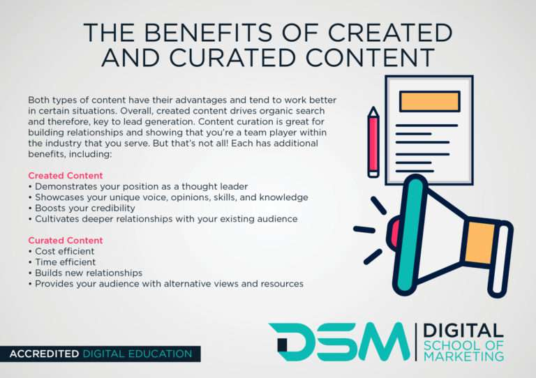 DSM Digital School of Marketing - curated content