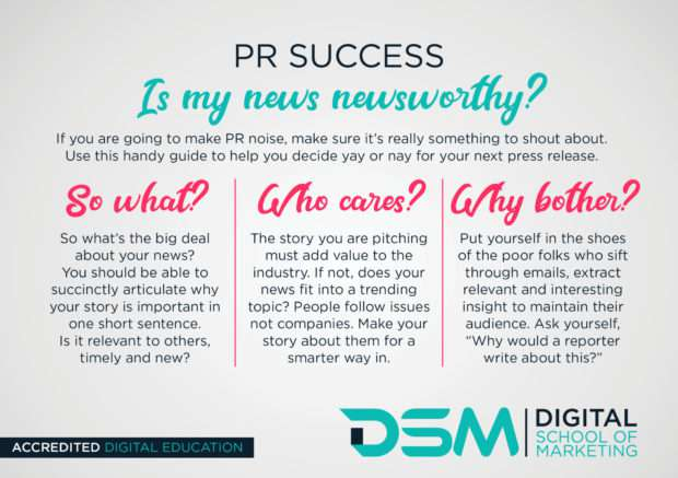 DSM Digital school of marketing - pr process
