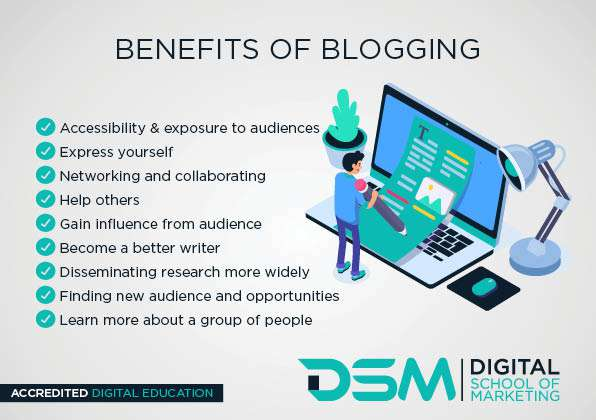 DSM Digital school of marketing - segmenting your audience - Bloggers