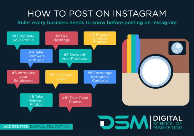 DSM | Digital school of marketing - instagram account