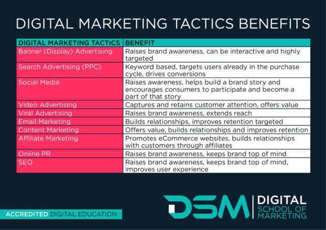 DSM Digital school of marketing - basics of digital marketing