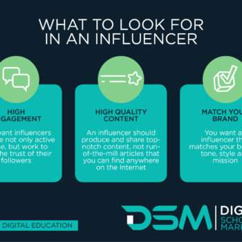 DSM Digital school of marketing - social media influencer