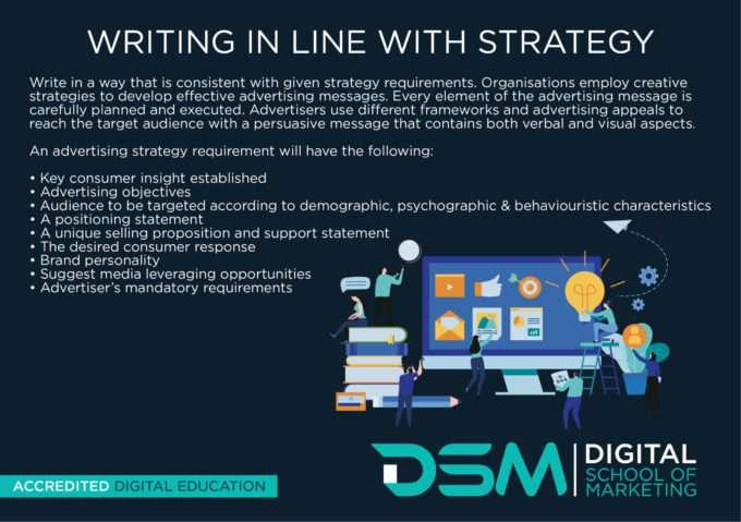DSM Digital school of marketing - script for an advertisement