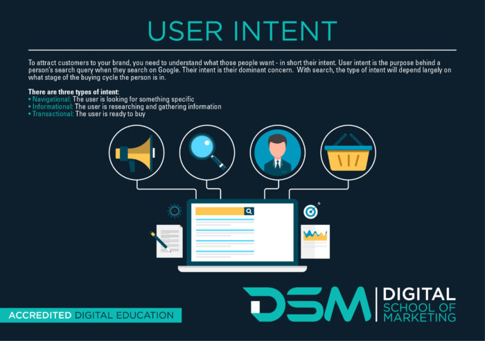 DSM Digital School of Marketing - user search intent