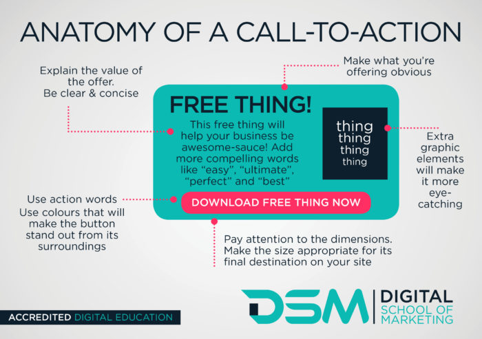 What is a call-to-action? | DSM | Digital School of Marketing