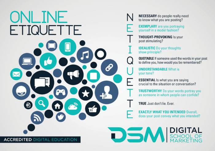 DSM - Digital school of Marketing - social media etiquette