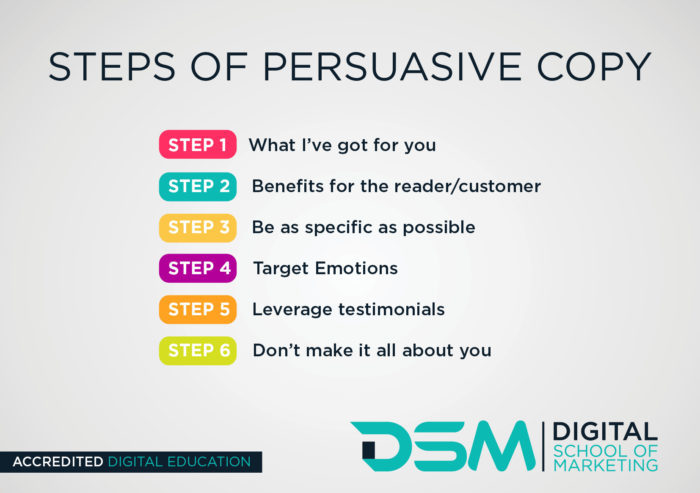 DSM Digital School of Marketing - persuasive language