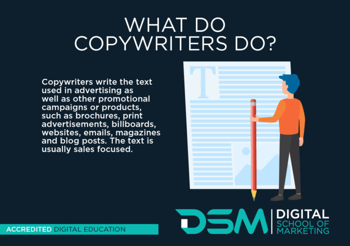 DSM Digital school of Marketing - copywriter
