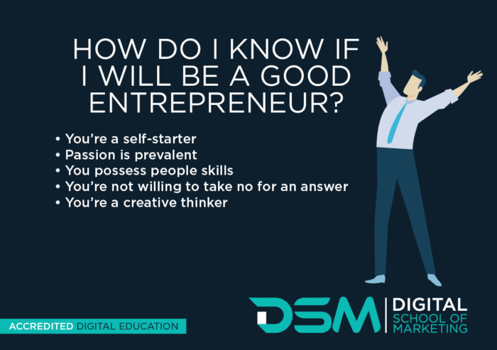 DSM Digital School of Marketing - entrepreneur